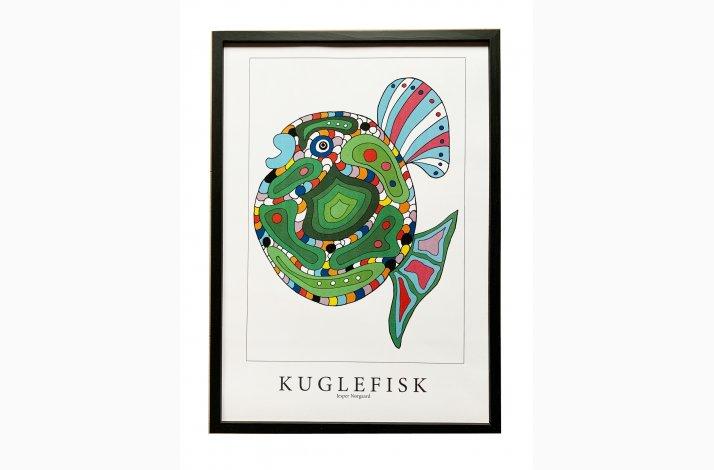 Kuglefisk  43,5x31,5 cm