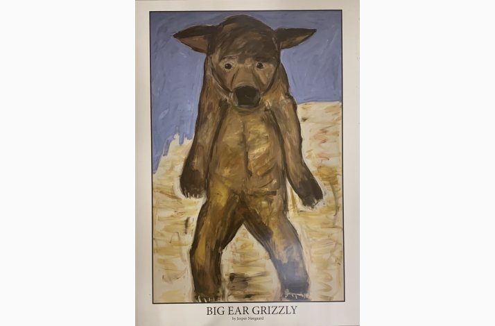 Big Ear Grizzly 100x70 cm poster